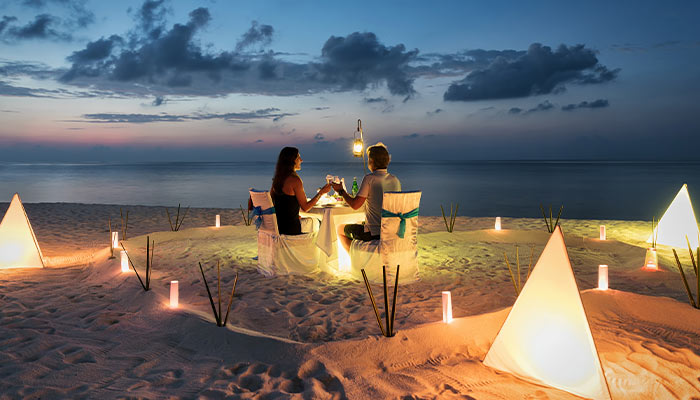 Surprise your partner with a romantic dinner